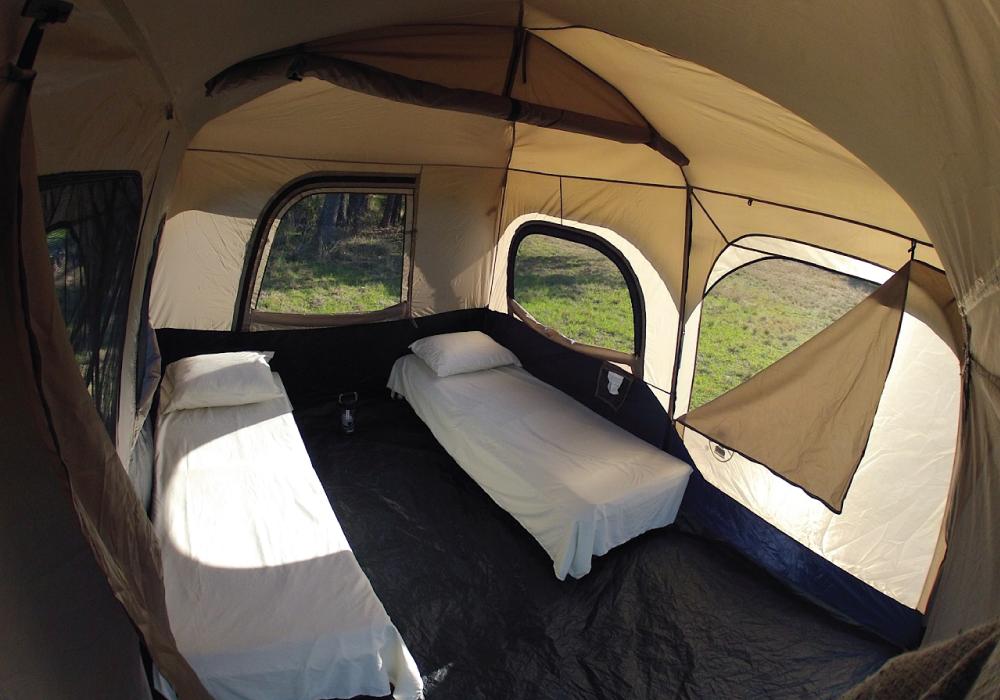 Two Cot Tent Rental Habitat Camping Rentals Austin Texas
